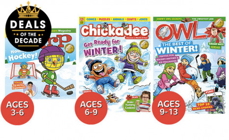 51% off Subscriptions to OWL, Chickadee, or Chirp Magazines