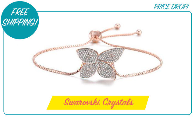 $16.27 for an Adjustable Swarovski Clover Bracelet (a $139 Value)