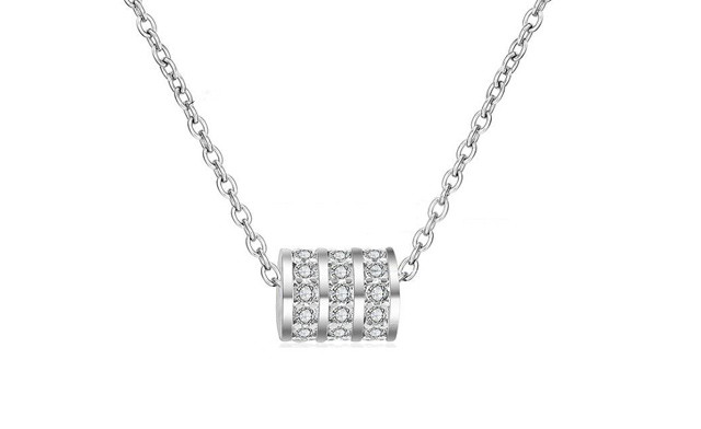 $17.43 for a Pave Barrel Necklace (a $109 Value)