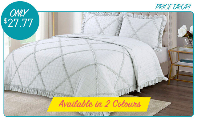Up to 75% off an Embroidered Quilt Set