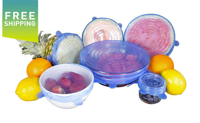 $17.90 for a 6-Piece Set of Reusable Silicone Stretch Lids (a $28 Value)
