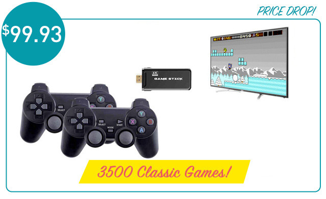 $99.93 for a 4K Classic Games Console with 2 Controllers (a $199 Value)