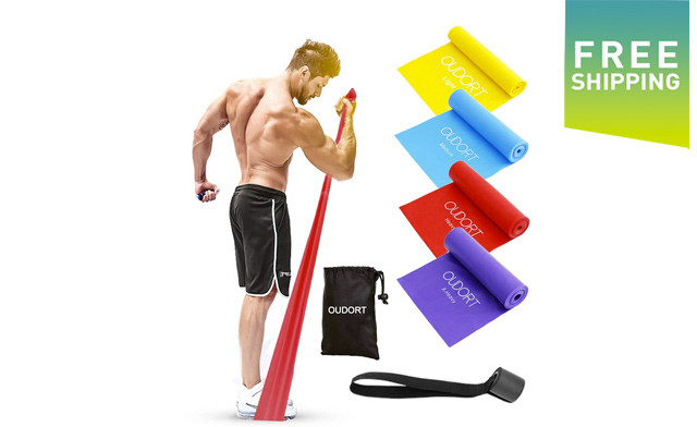 $20.95 for a 4-Pack of Exercise Bands (a $43.99 Value)