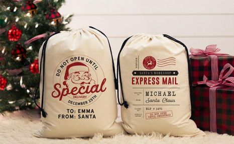 Up to 81% off Personalized Jumbo Santa Bags