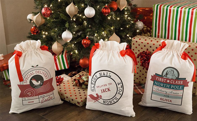 Up to 81% off Personalized Drawstring Santa Gift Bags