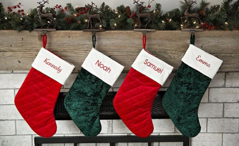 Up to 80% off Personalized Velvet Christmas Stockings