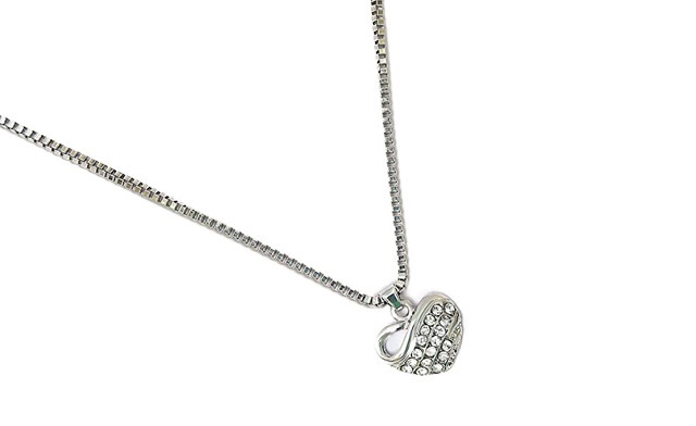 $15 for a 3Pc Heart Necklace & Earring Set (a $59 Value)