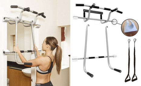 Click to view $42.95 for a Shamrock Triple Gym 3-in-1 Doorway Trainer (a $149 Value)