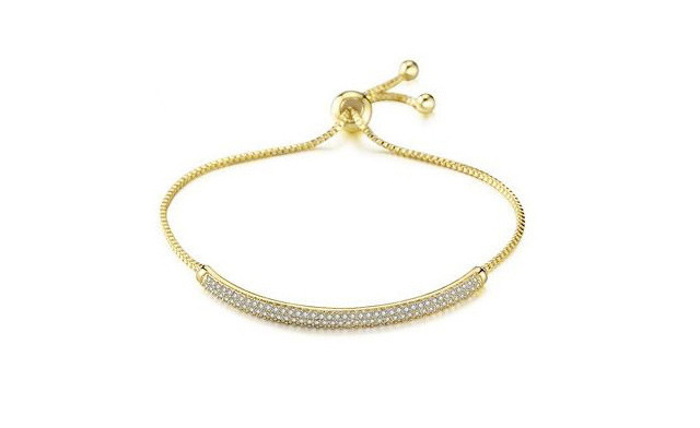 $20 for an Adjustable Crystal Semi-Bangle (a $150 Value)