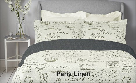 Up to 72% off a 3-Piece Paris Microfiber Quilt Set