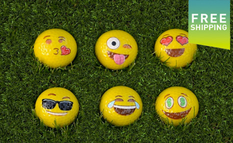 Click to view $28.99 for Emoji Golf Balls - 12-Pack (a $41.99 Value)