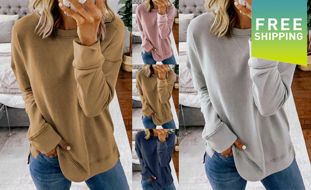 Click to view $34.95 for a Women's Long Sleeve Crew Neck Top (a $99 Value)