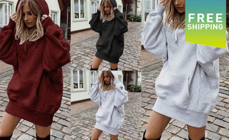 Click to view $35.95 for a Women's Oversized Hoodie (an $89 Value)