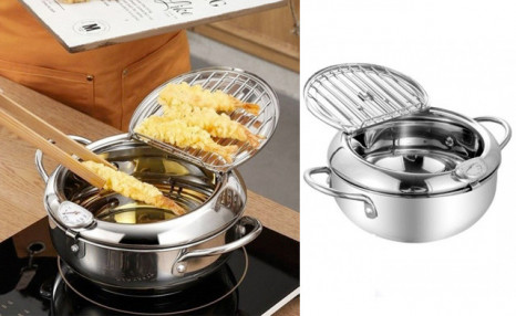 Click to view $37.95 for a Stainless Steel Tempura Deep Fryer (a $99 Value)