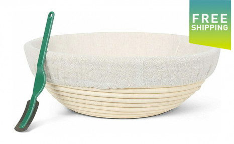 Click to view $22.95 for a Banneton Bread Proofing Basket (a $39 Value)