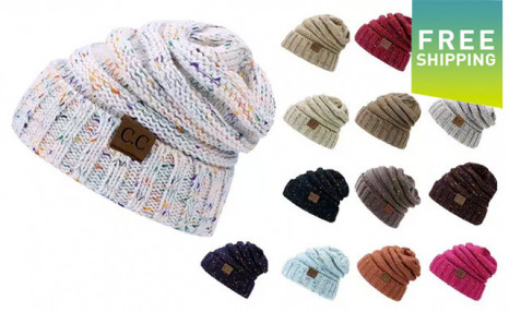 Click to view $21.95 for a Women's Trendy Knitted Beanie (a $39.99 Value)