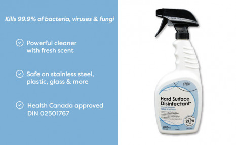 Click to view Health Canada Approved Hard Surface Disinfectant
