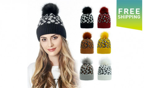 Click to view $17.95 for a Women's Knitted Leopard Print Beanie (a $39 Value)