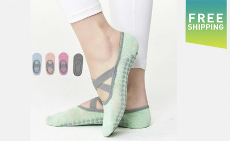 Click to view $17.95 for a Pair of Women's Yoga Socks (a $38 Value)