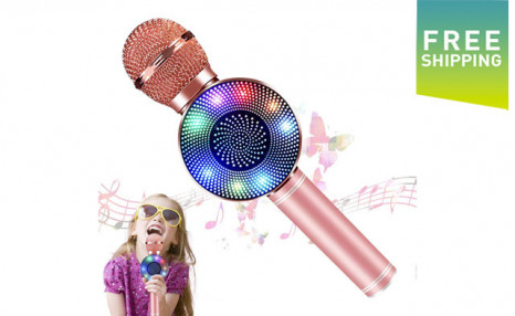 Click to view $34.95 for a 3-in-1 Wireless Karaoke Microphone (a $59 Value)