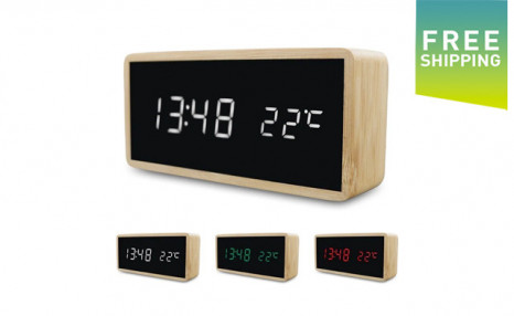 Click to view $31.95 for a Wooden Alarm Clock (a $60 Value)