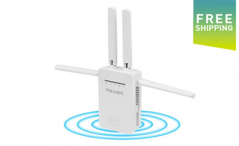 Click to view $38.95 for a WiFi Signal Booster with Antenna (a $95 Value)