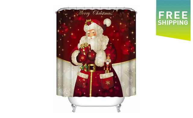 $33.95 for a Christmas Bathroom Curtain (a $55 Value)