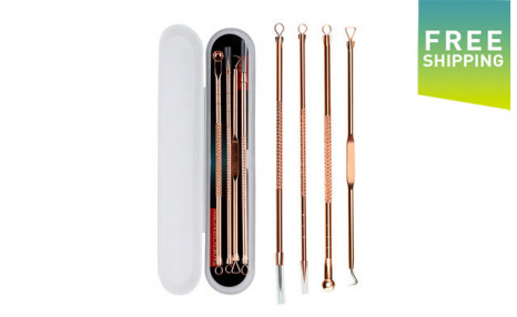 Click to view $15.95 for a Rose Gold Blemish Extractor Set (a $29 Value)