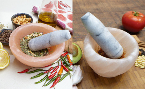 Up to 69% Off a Himalayan Salt Mortar & Pestle