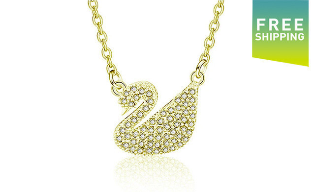 $15 for a Swarovski Crystal Swan Necklace (a $99 Value)