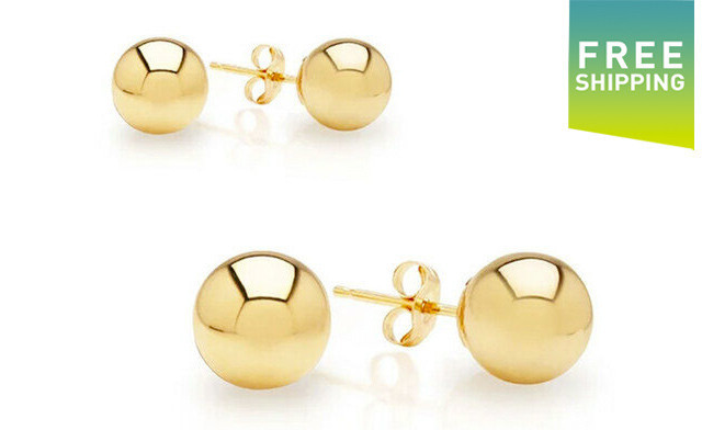 $24.99 for Yellow Gold Stud Earrings (an $89 Value)