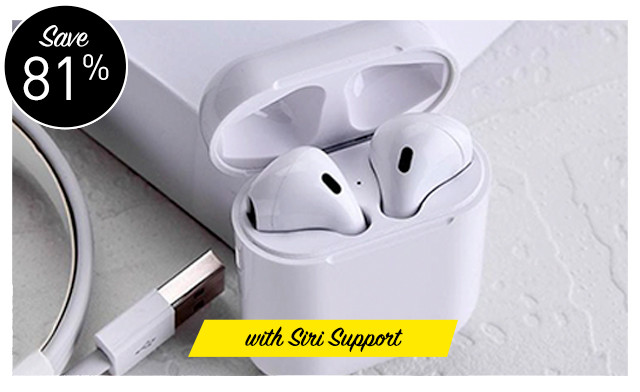 Up to 85% off Wireless Bluetooth Earbuds with Siri Support