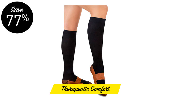 $31.71 for a 5-Pack of XFit Compression Socks (a $138 Value)