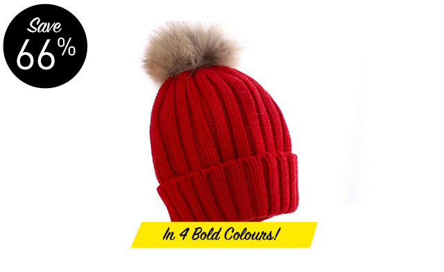 $16.47 for a Knitted Winter Hat with Detachable Pom Pom (a $49 Value)