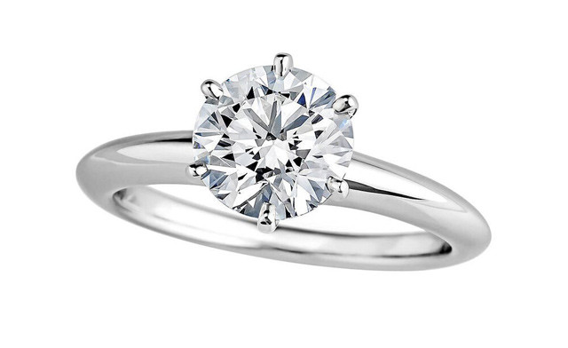 Up to 82% off a Moissanite Engagement Ring