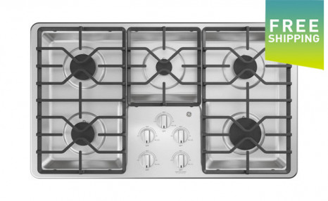 Click to view $625 for a GE 36-Inch Built-In Gas Cooktop with 5 Burners (a $1,299 Value)