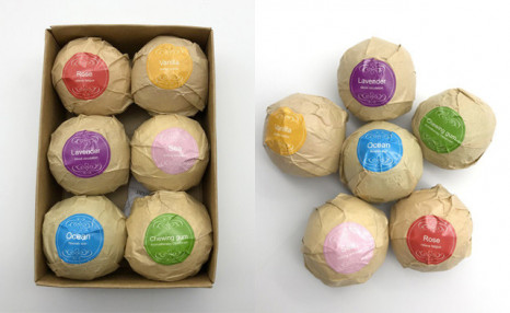 $22.50 for a 6-Piece Set of Organic Bath Bombs (a $39.99 Value)