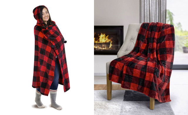 $27 for a Plush Hooded Blanket (a $52.99 Value)