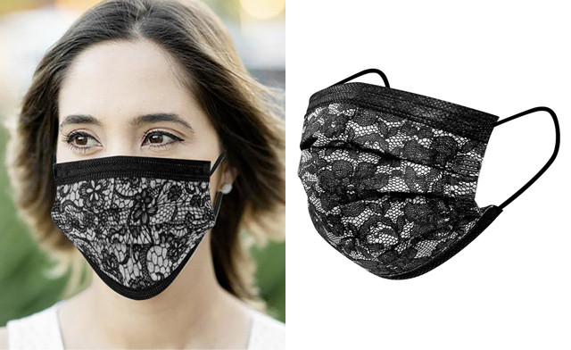 $17.95 for a 50-Pack of Disposable 3-Layer Lace Masks (Non-Medical)
