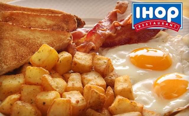 $10 for $20 towards Food at IHOP Restaurant