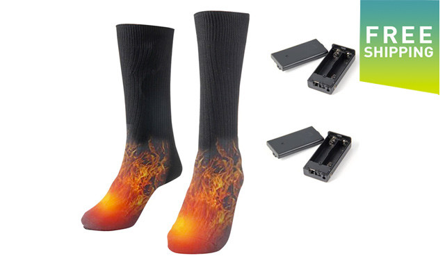 $34.95 for a Pair of Thermal Heated Socks (a $59.99 Value)