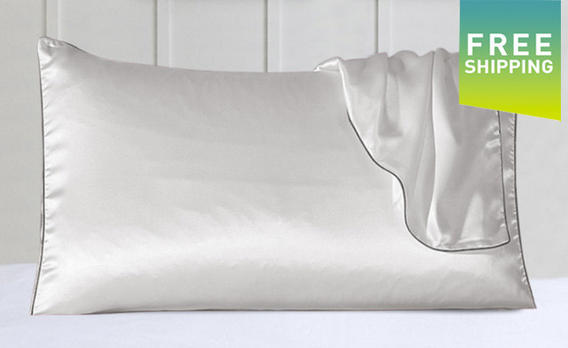 Up to 65% off a Silk Pillow Case with Trim