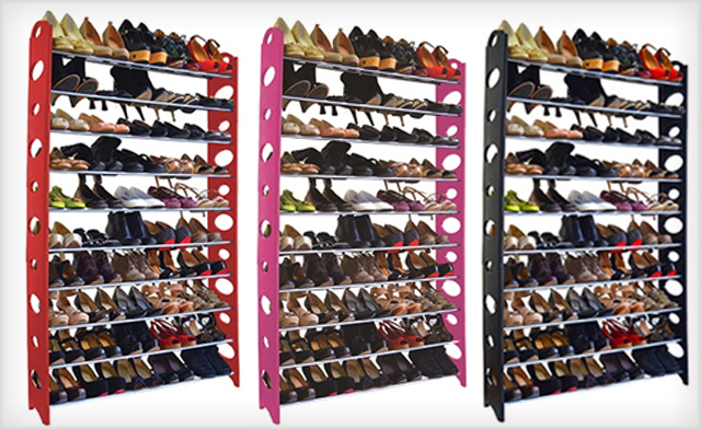Click to view $24.95 for a 50-Pair Shoe Rack (a $49 Value)