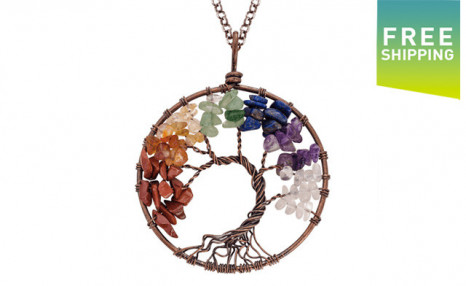 Click to view $15 for a Gemstone Tree of Life Necklace (a $109 Value)