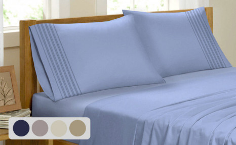Click to view Up to 78% off a Bamboo Feel Pleated Sheet Set