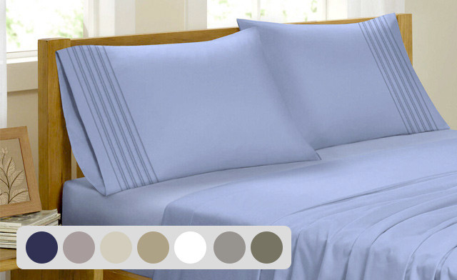 Up to 78% off a Bamboo Feel Pleated Sheet Set