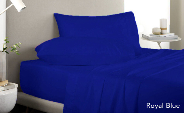 Up to 87% off a 4Pc Colour Bright Sheet Set