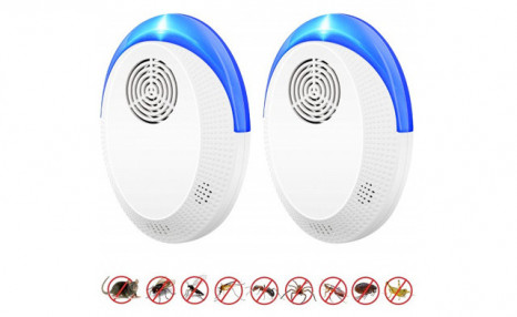 $14.95 for a 2-Pack of Ultrasonic Pest Repellers (a $55 Value)