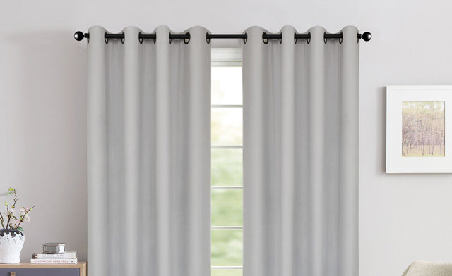 Click to view $19.95 for a Pair of Foamback Grommet Curtains (a $69.99 Value)