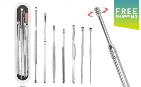 Click to view $15.95 for a 7Pc Stainless Steel Ear Wax Remover Set (a $29 Value)